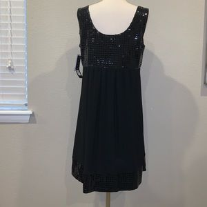 Tiana B. Sleeveless Black Dress